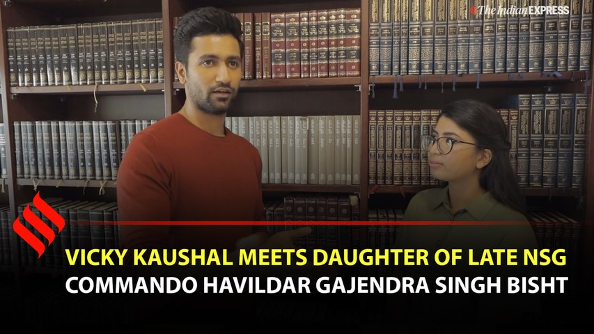 Vicky Kaushal meets daughter of late NSG Commando Havildar Gajendra Singh Bisht