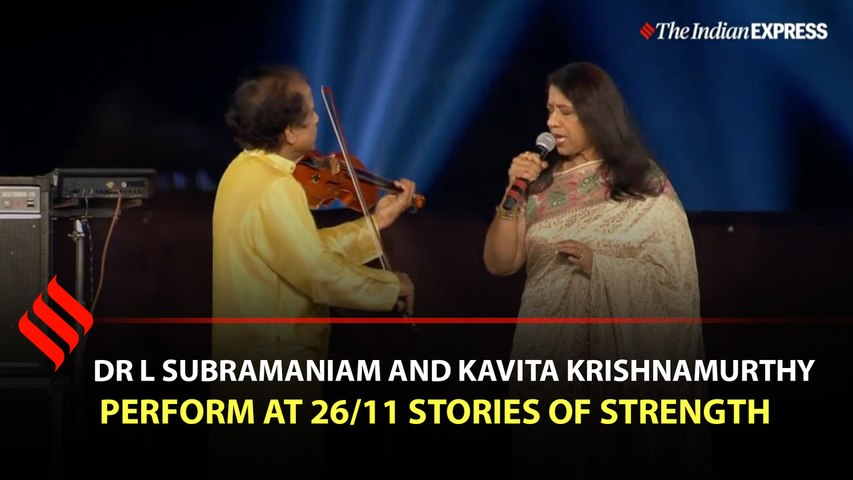 Dr L Subramaniam and Kavita Krishnamurthy perform at 26/11 Stories of Strength