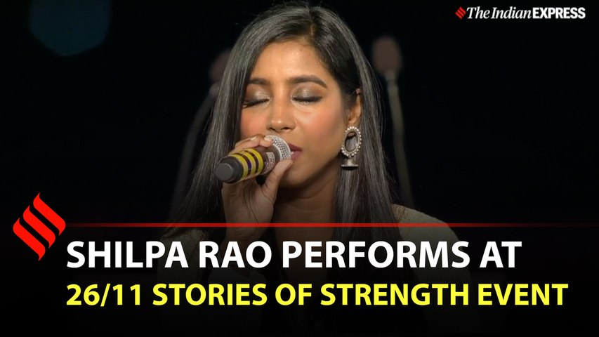 Shilpa Rao performs at 26/11 Stories of Strength event