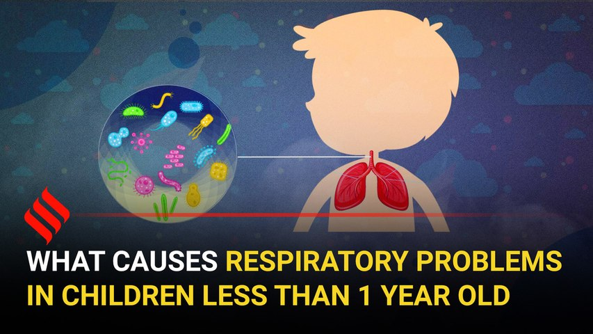 What causes respiratory problems in children less than 1 year old