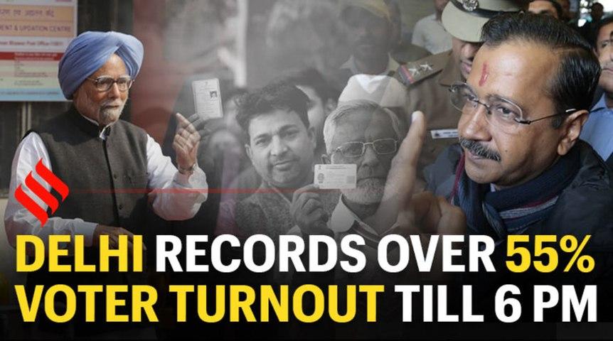 Delhi records over 55% voter turnout till 6 pm