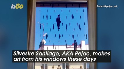 Street Artist Uses His Windows to Make 'Street' Art Without Leaving Home