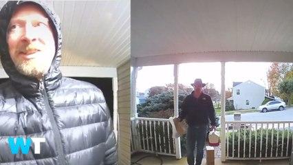 Adorable Dad Talks To Daughter Through Doorbell