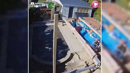 Extension de maison avec piscine cachée