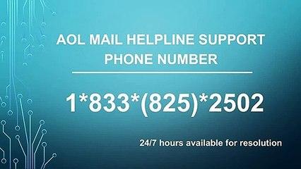 AOL Mail Helpline Phone Number ☎ 1~833~825~2502