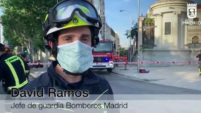 Colapsa la cúpula de un edificio en Madrid sin causar heridos