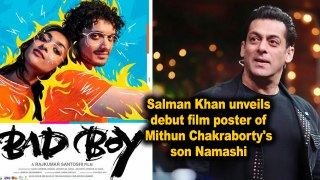 Salman Khan unveils debut film poster of Mithun Chakraborty's son Namashi