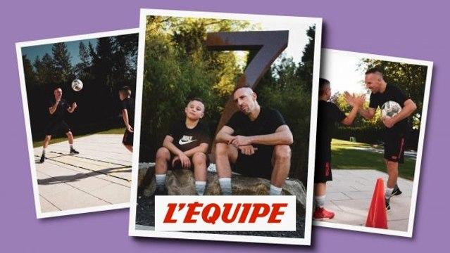 Avant la reprise, Franck Ribéry a joué les entraîneurs paternalistes avec son fils Seïf - Foot - ITA