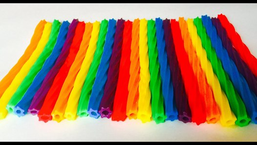 Rainbow Candy Licorice Color Game and Counting Unwrapping ...