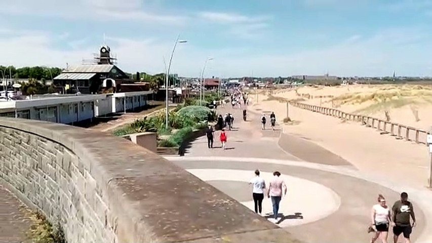 Bank Holiday crowds head for South Shields seafront