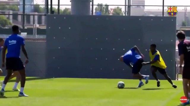 Ansu Fati humilie Arturo Vidal a l'entraînement