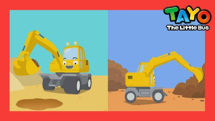 Excavator Song l Strong Heavy Vehicles  l Tayo's Sing Along Show l Tayo the Little Bus