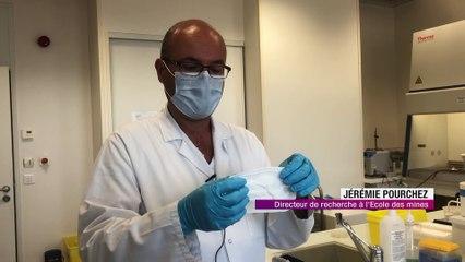 Les chercheurs Stéphanois testentl'efficacité des masques Français -  Reportage TL7 - TL7, Télévision loire 7