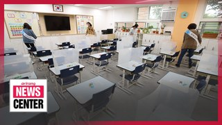 First and second year elementary school students resume classes on Wednesday