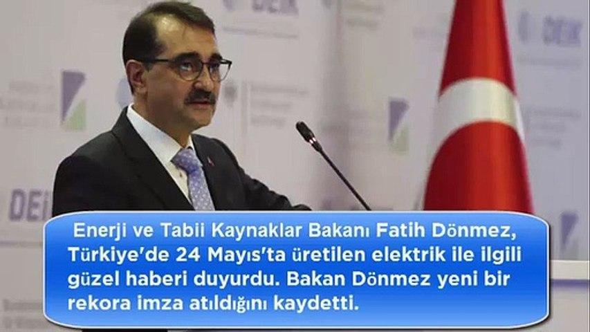 Bakan Fatih Dönmez açıkladı: Yenilenebilir enerji üretiminde günlük rekor kırıldı