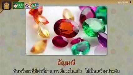 สื่อการเรียนการสอน เรียนรู้คำศัพท์เรื่อง ธรรมชาตินี้มีคุณ ป.4 ภาษาไทย