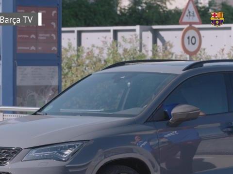 La Liga - Entraînement masqué pour le Barça