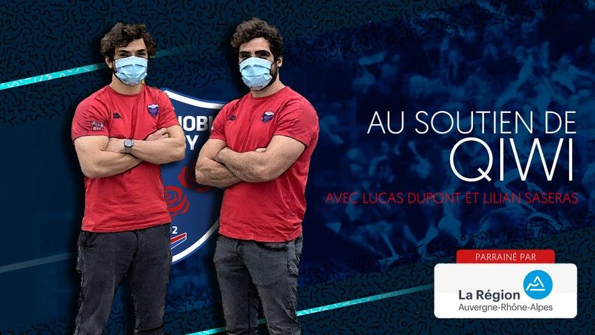 Rugby : Video - Lilian Saseras et Lucas Dupont au soutien de Qiwi