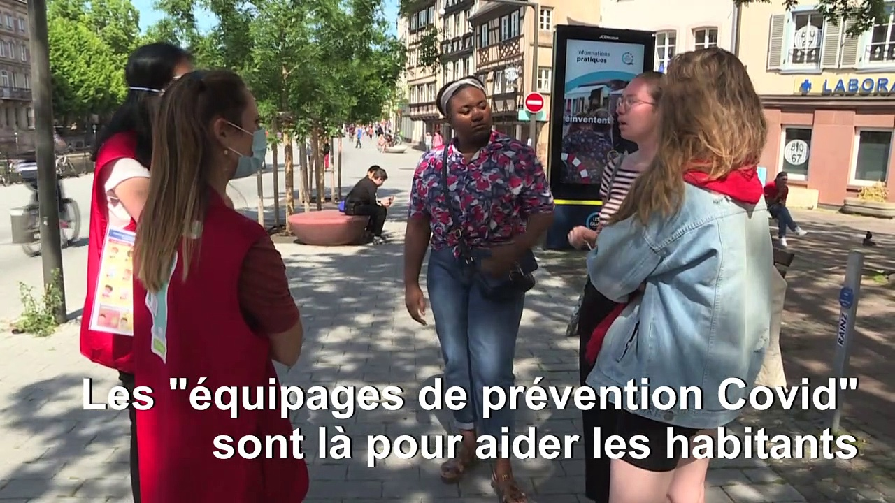 """A Strasbourg, """"des équipages de prévention Covid"""" pour expliquer les bons gestes barrière"""