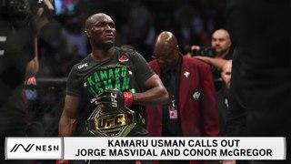 Kamaru Usman Wants To Silence Conor McGregor, Jorge Masvidal