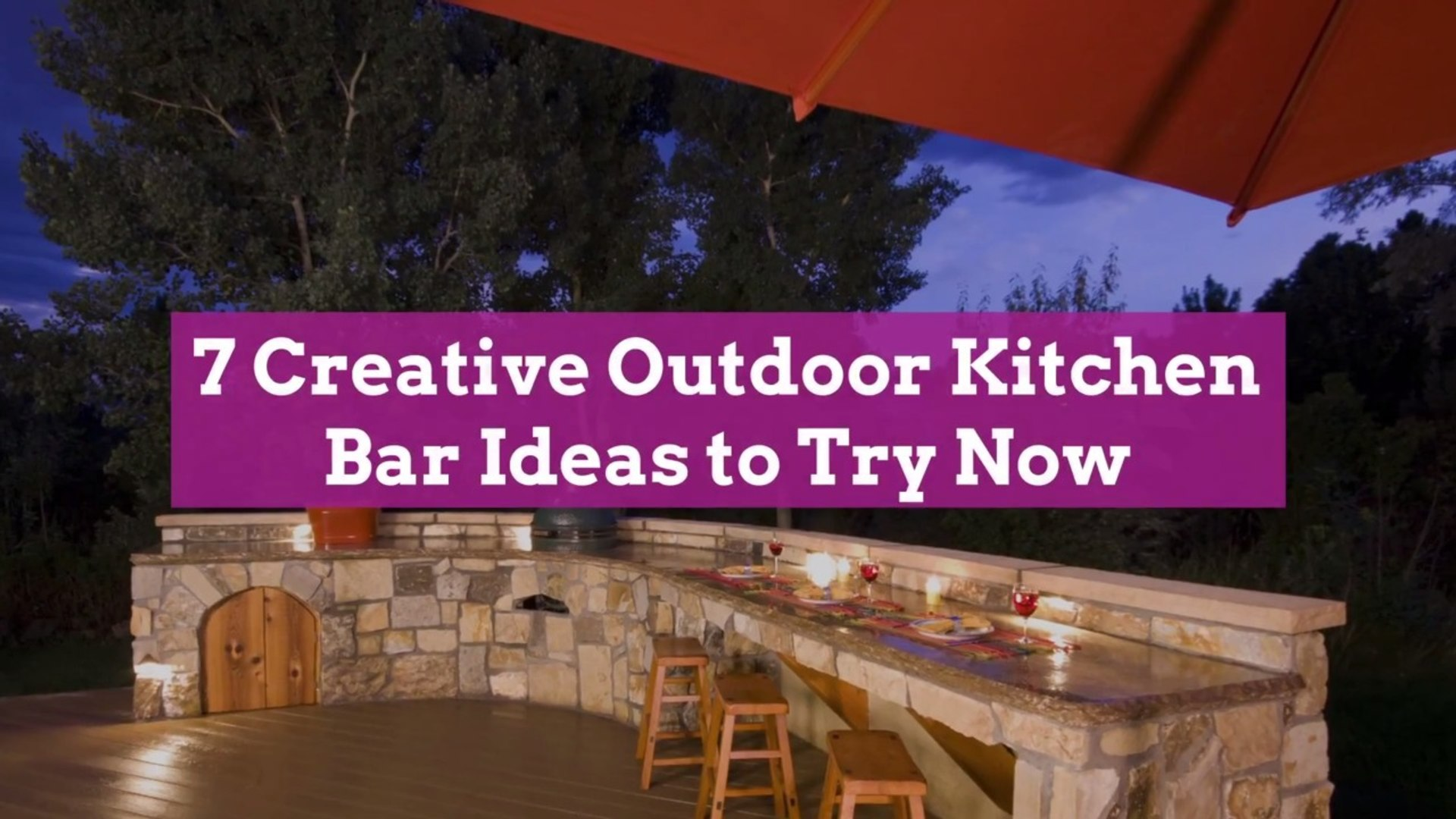 9 Creative Outdoor Kitchen Bar Ideas to Try Now
