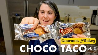 Pastry Chef Attempts to Make Gourmet Choco Tacos Part 2