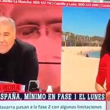 'Al Rojo Vivo' - Reportagem critica incumprimento de regras em praia vazia