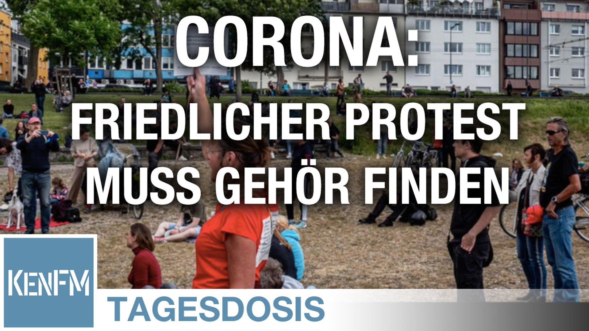 Corona: Friedlicher Protest muss Gehör finden können - Tagesdosis 30.5.2020