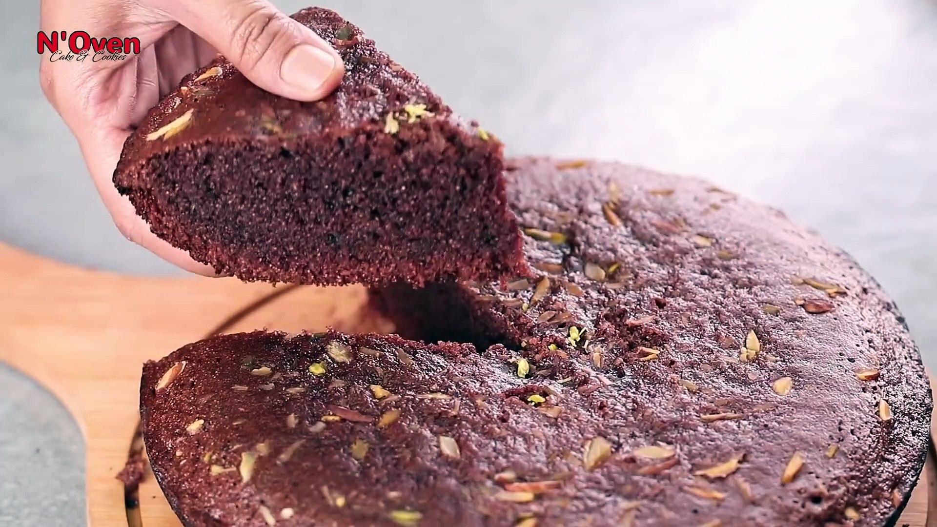 LOCKDOWN CHOCOLATE SUJI CAKE IN KADAI _ SEMOLINA CAKE _ CHOCOLATE CAKE _ SUJI CAKE _ WITHOUT OVEN