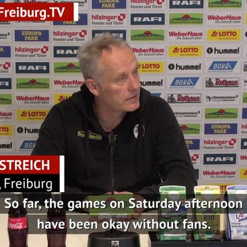 Freiburg coach says absent fans affected him on Friday