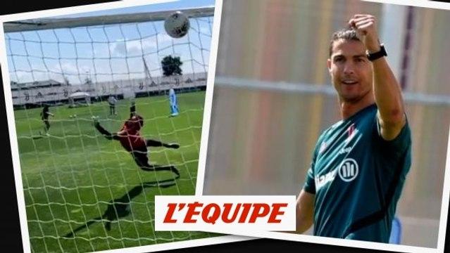 Cristiano Ronaldo martyrise un gardien à l'entraînement - Foot - WTF