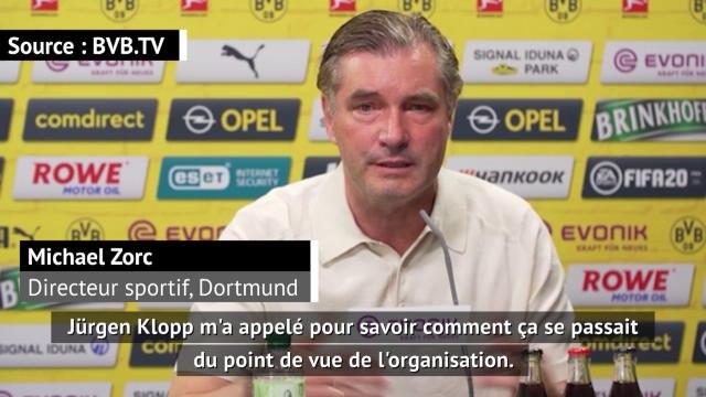 """Coronavirus - Zorc (Dortmund) : """"Klopp m'a appelé pour parler de l'organisation"""""""