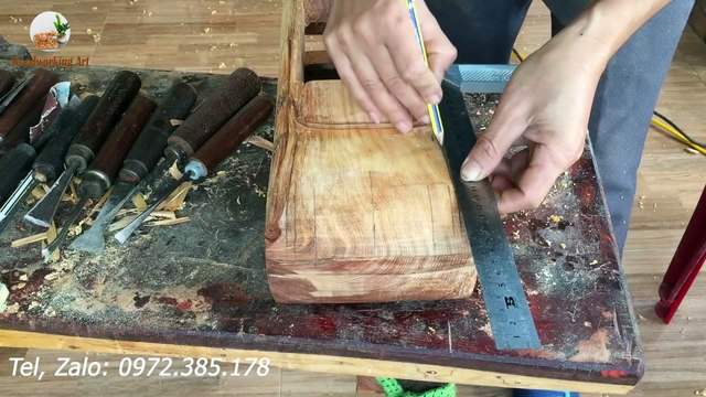 Wood Carving --- 1959 Classic Cadillac Convertible --- Wood Art