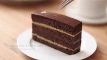 オペラ風チョコケーキの作り方 Chocolate & Coffee Cake