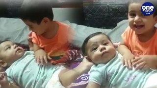 ದೊಡ್ಡವಳಾದ್ಲು ಯಶ್ ಮಗಳು...ಆಯ್ರಾ ಮಾಡ್ತಿರೋ ತಾಯಿ ಕೆಲ್ಸ ಸಖತ್ ಕ್ಯೂಟ್  Cute Ayra cuddling baby brother  Yash