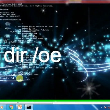 Dir command in command prompt with options # hindi