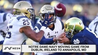 Notre Dame vs. Navy Not Playing In Ireland, To Play At Navy For First Time