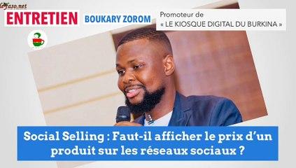 Vente sur les réseaux sociaux : Faut-il afficher les prix des produits ou pas ? Réponse avec le Blogueur Boukary Zorom