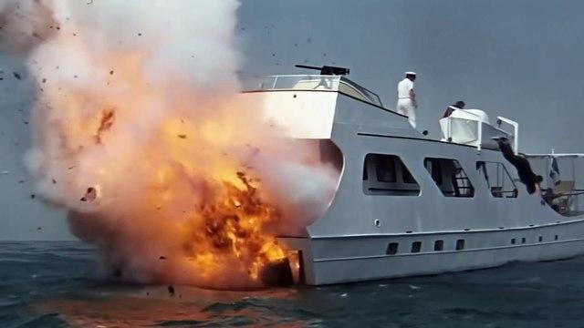 James Bond THUNDERBALL movie (1965) - Clip - Bond and Emilio Largo battle