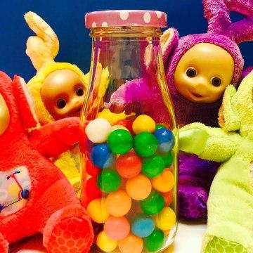 Teletubbies Toys Counting Candy Gumballs تليتبيز كاندي العاب اطفال