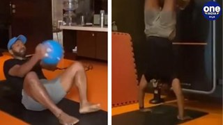 Puneeth Rajkumar sweats out at home with these heavy workout | Power stars Powerful workout