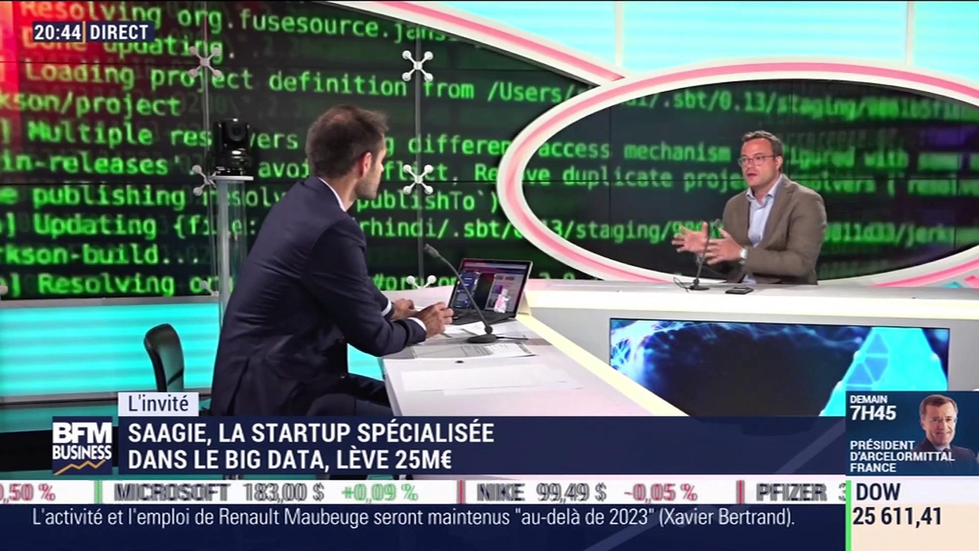Start up & co: Saagie, la startup spécialisée dans le Big Data, lève 25M€  – 02/06