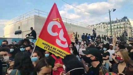 Une blanche de la CGT se fait virer de la manifestation pour Adama Traoré
