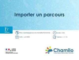 Chamilo - Importer un parcours