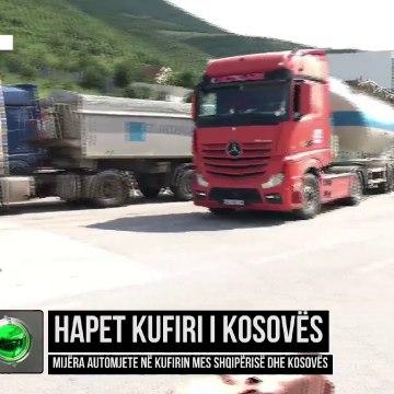 Hapet kufiri i Kosovës/ Mijëra automjete në kufirin mes Shqipërisë dhe Kosovës