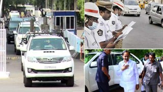 KCR Convoy Challaned For Overspeed CMO Paid The Amount