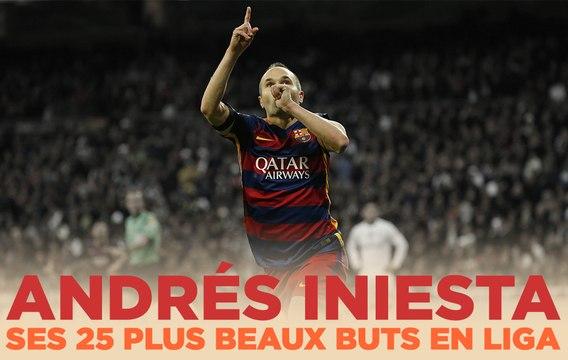 Le Top 25 d'Iniesta en Liga