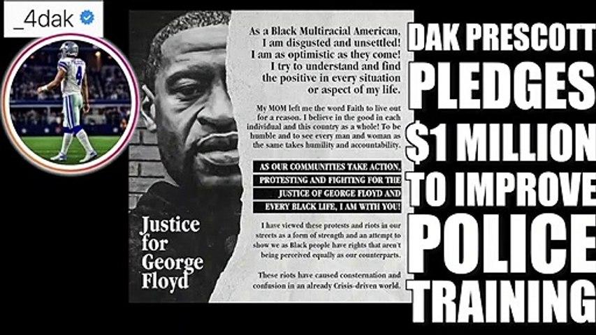 Dak Prescott pledges $1 million to improve police training