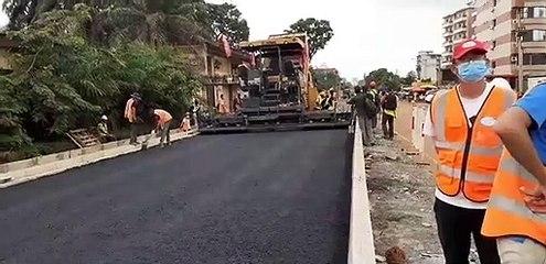 Elargissement de la route Donka-Bellevue en 2×2 voies : début de l'application de la grave bitume
