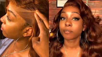 Glue-less lace frontal wigs blend seamlessly